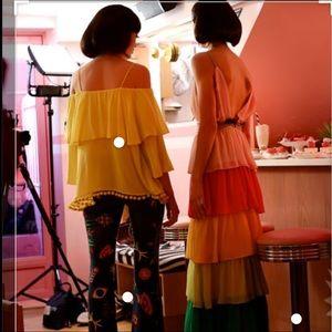 "Alice + Olivia Dresses - Alice + Olivia ""Luba"" Chiffon Gown"